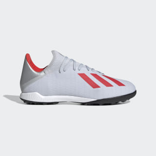 X 19.3 Turf Shoes Silver Metallic / Hi-Res Red / Cloud White F35374