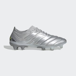 Botas de Futebol Copa 20.1 – Piso firme Silver Met. / Silver Met. / Solar Yellow EF8316