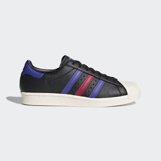 Tenis Superstar 80s CORE BLACK/BLUE/MYSTERY RUBY F17 CQ2655