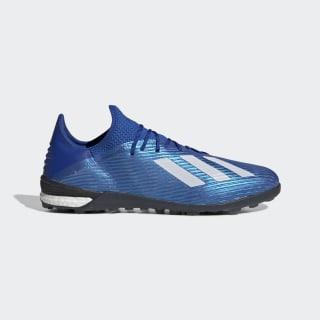Футбольные бутсы X 19.1 TF Royal Blue / Cloud White / Core Black EG7136