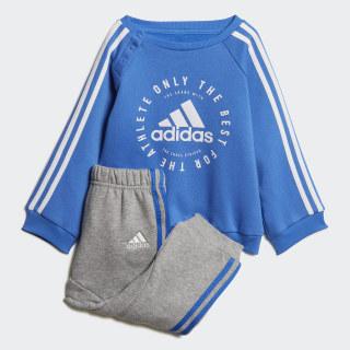 Fleece 3-Stripes Jogger Set True Blue / White DV1278