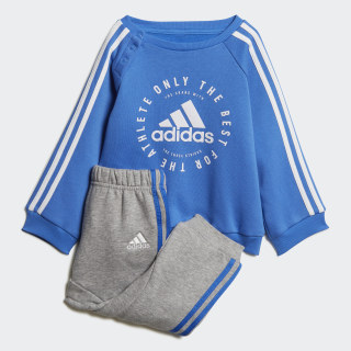 Флисовый комплект: джемпер и брюки 3-Stripes true blue / white DV1278