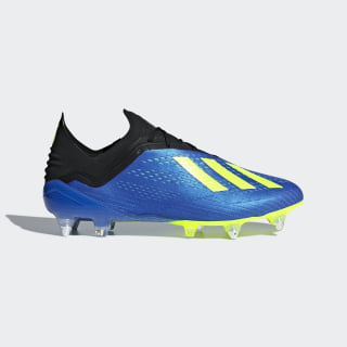 Футбольные бутсы X 18.1 SG football blue / solar yellow / core black CM8373