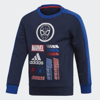 Sweat-shirt Marvel Spider-Man Crew Collegiate Navy / Collegiate Royal / Scarlet ED6454