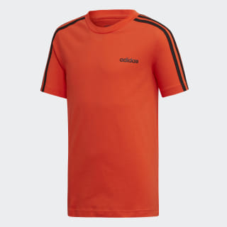 Camiseta Essentials 3-Stripes Active Orange / Black DW9711