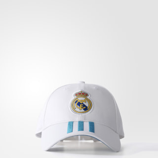 Gorra 3 franjas Real Madrid WHITE/VIVID TEAL S13 BR7157