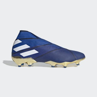 Botines Nemeziz 19+ Terreno Firme Football Blue / Cloud White / Core Black F34406