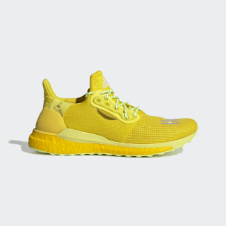 Кроссовки для бега Pharrell Williams Solar Hu Bright Yellow / Cloud White / Solar Yellow EF2379