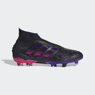 Predator 19+ Paul Pogba Firm Ground Boots Core Black / Core Black / Shock Pink EE7844