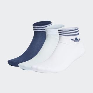 Trefoil Ankle Socks 3 Pairs White / Sky Tint / Tech Indigo FM0645