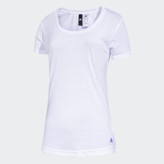 Remera Essentials Basic WHITE/BLUE CV5859