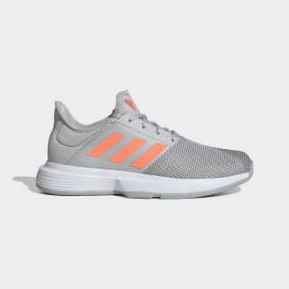 GameCourt Shoes Grey Two / Signal Coral / Grey Three EG2015