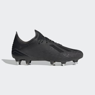 Scarpe da calcio X 19.1 Soft Ground Core Black / Utility Black / Silver Met. EG2834