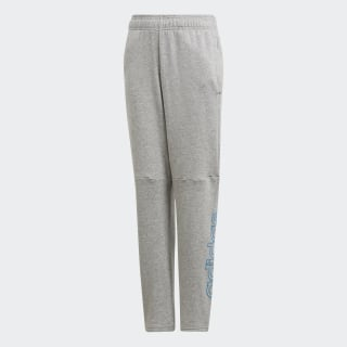 Брюки Essentials medium grey heather / shock cyan DY2975