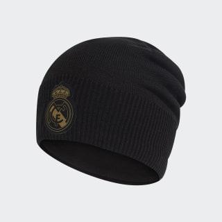 Čepice Real Madrid Climawarm Black / Dark Football Gold DY7727