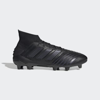 Predator 19.1 Firm Ground Leather Cleats Core Black / Core Black / Utility Black EG7870