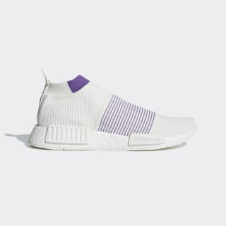Tênis NMD_CS1 Primeknit Running White / Crystal White / Active Purple CM8496