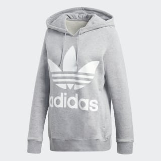 Trefoil Hoodie Medium Grey Heather CY6665