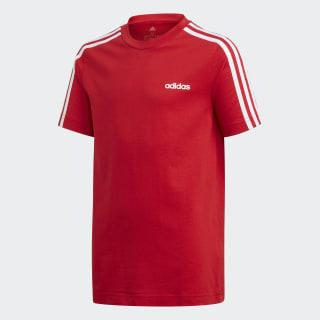 Camiseta 3 Rayas Essentials Scarlet / White FM7033