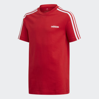 Essentials 3-Stripes Tee Scarlet / White FM7033