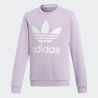 Sweat-shirt Trefoil Crew Purple Glow / White DV2890