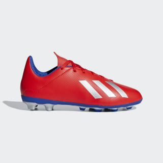 Chaussure X 18.4Multi-surfaces Active Red / Silver Metallic / Bold Blue BB9379