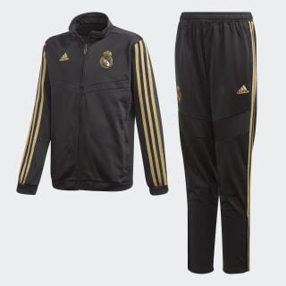 Conjunto REAL MADRID black/dark football gold DX7869