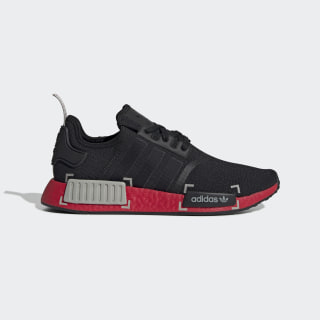 NMD_R1 Schoenen Core Black / Metal Grey / Scarlet FV3907
