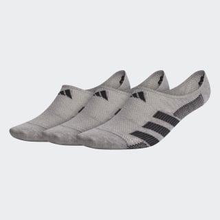 Superlite Stripe 2 Super-No-Show Socks 3 Pairs Medium Grey CM5783