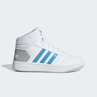 Tênis Hoops 2.0 Mid Ftwr White / Shock Cyan / Core Black F35795