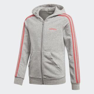Veste à capuche Essentials 3-Stripes Medium Grey Heather / Prism Pink DV0370