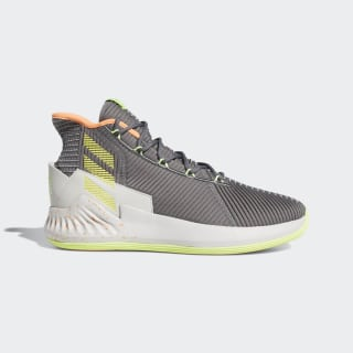 D Rose 9 Shoes Grey / Shock Yellow / Grey F99886