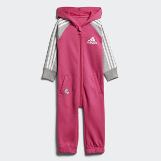 YOUTH/BABY JOGGER I ONESIE REAL MAGENTA/MEDIUM GREY HEATHER/WHITE DJ1554