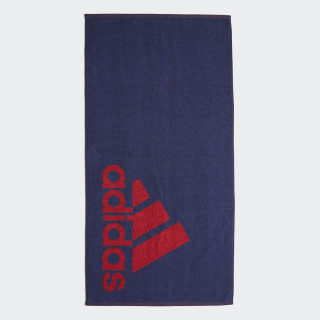 adidas håndklæde, lille Tech Indigo / Collegiate Red FJ4773