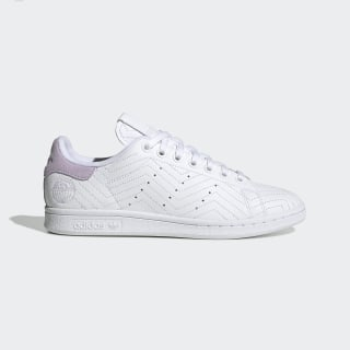 Stan Smith Schuh Cloud White / Cloud White / Purple Tint FV4067