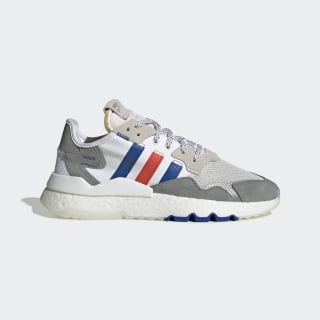 Nite Jogger Shoes Cloud White / Power Blue / Bright Red EG2861