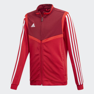 Tiro 19 Polyester Track Top Power Red / White D95942
