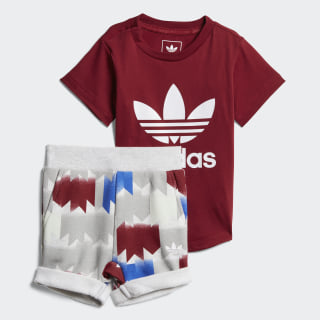 Conjunto GRPHC Camiseta y Shorts COLLEGIATE BURGUNDY/WHITE/MULTICOLOR CE4368