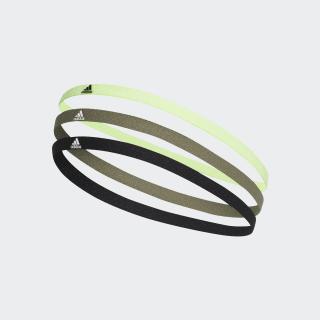 Confezione da 3 fasce per capelli Black / Legacy Green / White FM0215