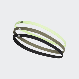Opaska na włosy – 3-pak Black / Legacy Green / White FM0215