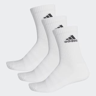 Cushioned Crew Socks White / White / Black DZ9356