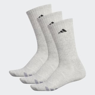 Cushioned Crew Socks 3 Pairs Light Onix / Black / Granite H77458