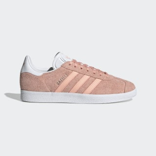 Gazelle Shoes Glow Pink / Cloud White / Platinum Metallic EE5543