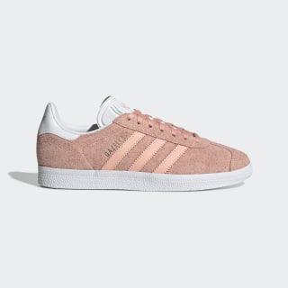 Sapatos Gazelle Glow Pink / Cloud White / Platinum Metallic EE5543