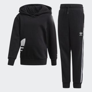 Big Trefoil hoodie sæt Black / White FM5630