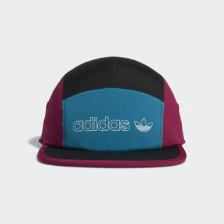 Colorblock Five-Panel Hat Berry CL5309