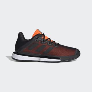 Кроссовки для тенниса SoleMatch Bounce core black / core black / solar orange G26605