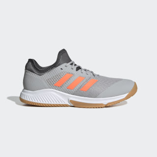 Zapatilla Court Team Bounce Grey Two / Signal Coral / Grey Six EF2643
