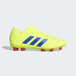 Bota de fútbol Nemeziz 18.1 césped natural seco Solar Yellow / Football Blue / Active Red CM8502