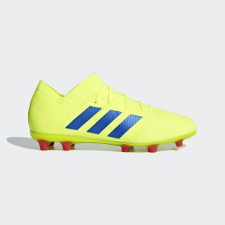 Футбольные бутсы Nemeziz 18.1 FG solar yellow / football blue / active red CM8502